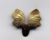 8 Small Petal Shape Wings Brass Metal Stampings
