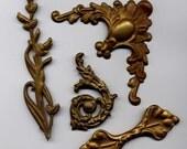Vintage Assortment of Brass Metal Stampings