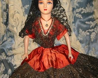 Boudoir Doll Spanish Style Vintage