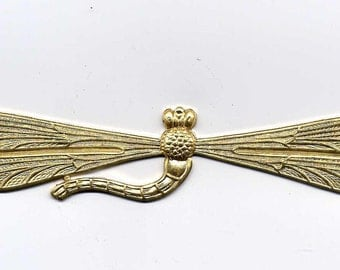 Long  Dragonfly Brass Metal Stamping