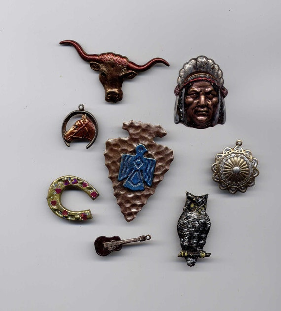 Painted SW Indian Collection Brass Metal Stamping Embellishments