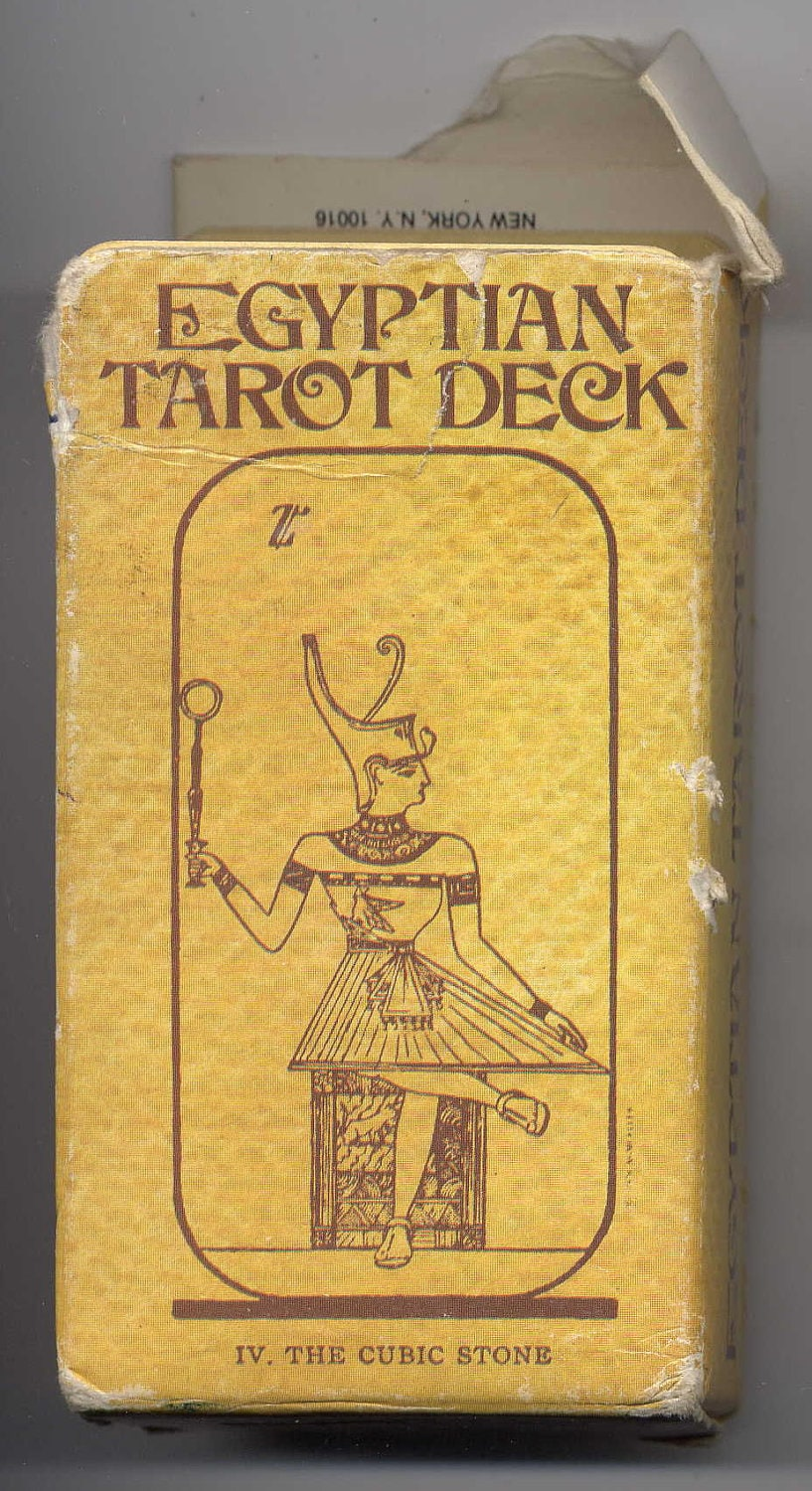 Egyptian Tarot Kit Deck Book Loscar: Egyptian Tarot Deck By Comte Saint Germain