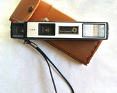 Vintage Continental Tele-Flash T-52 Camera with Leather Case IN WORKING ORDER // 1960s