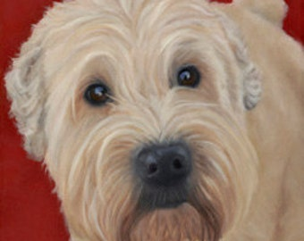 Wheaton Terrier Magnet - Dog Art Magnet - Stocking Stuffer - Proceeds Benefit Animal Charity