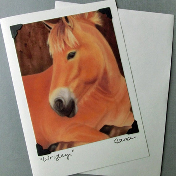 Horse Art Card - Equine Art Postcard Greeting Card Combination - Horse Rescue Art Card -- Animal Art Card -10% Benefits Animal Rescue