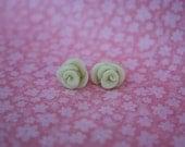Glow in the Dark Rose Stud Earrings