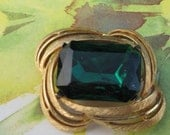 Beautiful Large  Fashion Jewelry Emerald Brooch