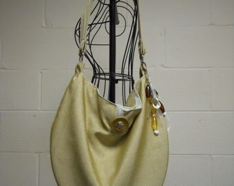 Soft Slouch Shoulder Bag in Spun Gold CLEARANCE