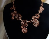 swirling copper necklace RESERVED FOR EMILY