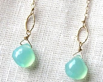 Pastel Earrings, Seafoam Green, Gemstone Jewelry