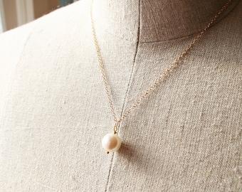 Pearl Necklace, Petite Jewelry, Wedding Jewelry