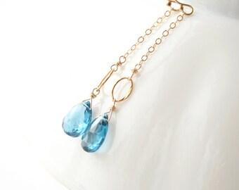 London Blue Topaz Earrings, Blue Earrings, Gemstone Earrings, Gemstone Jewelry