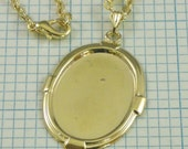 25x18mm Gold-Tone Setting with Bail and Chain