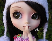 Pullip Blythe outfit  snowflake hat and retro dress SALE