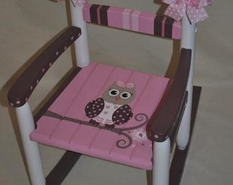 Handpainted Rocking Chair Kids Rocking Chairs Rocking Chair Rocker Nursery  Furniture