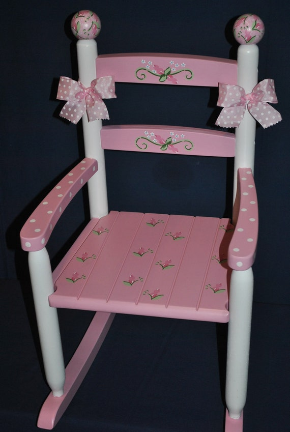 Items Similar To Children S Custom Hand Painted Pink