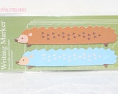 Long Hedgehog Kawaii Point Marker Post It Notes