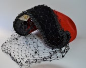Vintage Hat Red and Black by Harryson, Fifth Ave. New York