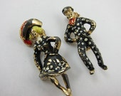 Pearly Kings and Queens, Vintage English Brooch