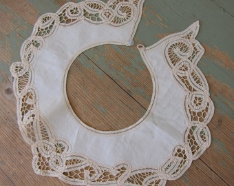 Antique Lace Collar Battenberg Lace
