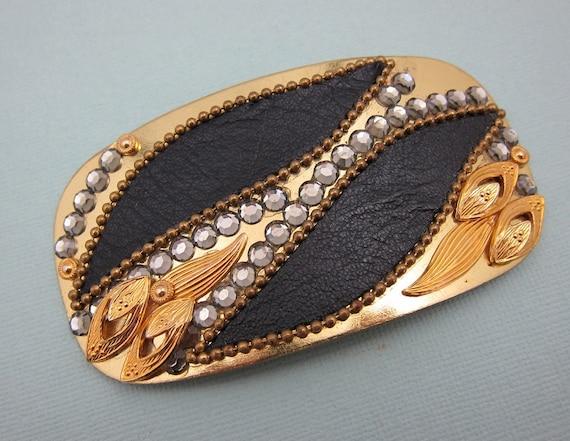 Designer Gold Belt Buckle  Vintage Belt Buckle