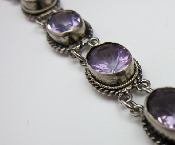 RESERVED FOR JEANETTE Genuine Amethyst Bracelet Vintage