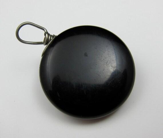 Watch Fob Retractable Chain Black Vintage Fob