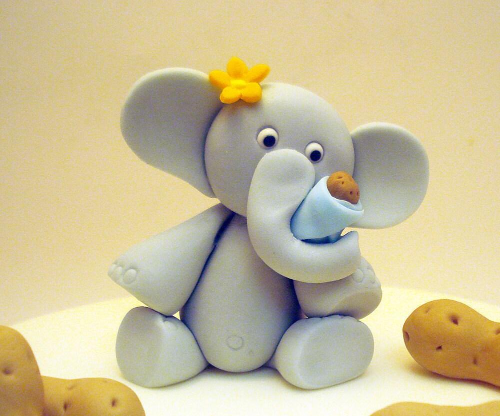my little peanut elephant cake topper by legacycraftyrosy
