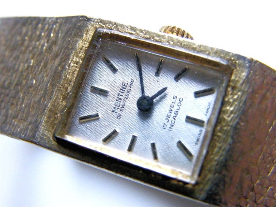 Swiss Made Montine Wrist Watch for Crafts or Steampunk Creations