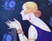 1920s Fashion Magazine Fabulous Antique Dance. Purple Flapper. Ideal for Framing.