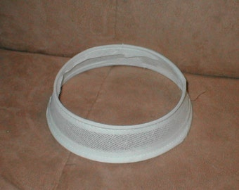 Drop buckram form, bucherame shape for hat, milliner canvas ...