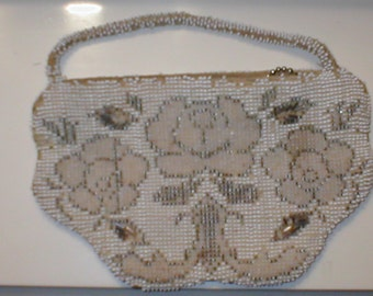 Antique Vintage Beaded  Purse