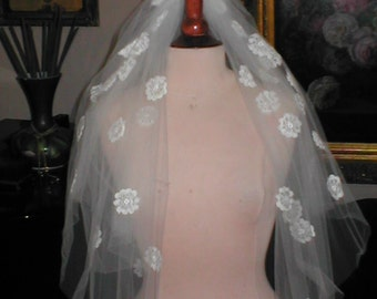 Ivory Lace two tier Bridal Veil