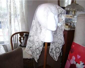 Vintage Lace Mantilla Bridal Veil
