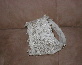 Vintage Ivory venice lace Bridal Headpiece