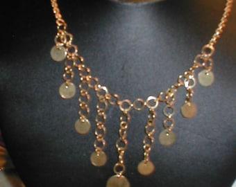 Vintage Goldtone Dangle Necklace