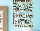 Parents Promise Vinyl Wall Decal Quotes Lettering FREE SHIPPING