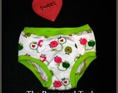 Cotton Lycra Panties-Hearts and Apples Size 3 4
