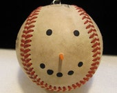 Country Baseball Snowman Ornament