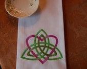 Trinity Heart Knot Towel
