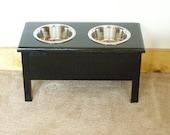 Medium dog/cat food bowl stand elevated feeder