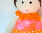 Penny - Retro Vintage Rag Doll - Made out of Vintage Fabric