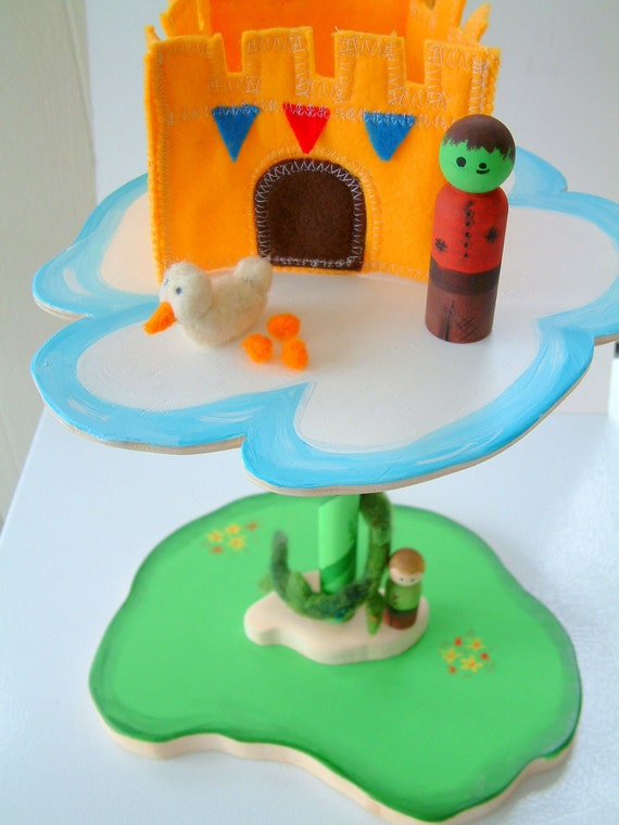 Jack And The Beanstalk - Wood and Wool  Play Set