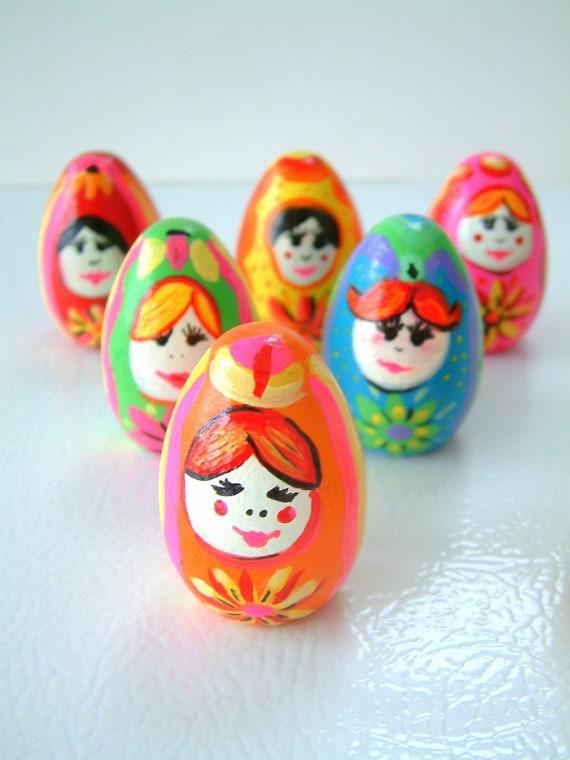 Matryoshka Russian Doll Bowling Set   - Wooden dolls
