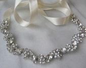 Rhinestone Bridal Headband, Rhinestone Wedding Head Piece, Rhinestone Headband - SOLEIL