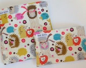 Reusable Sandwich and Snack Bag Set Hedgehog Meadow Eco Friendly