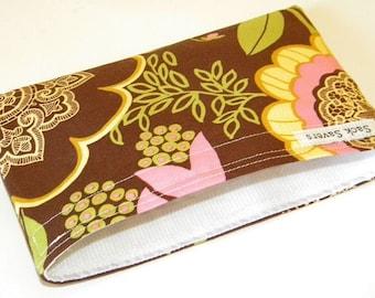 Brown Lacework Eco Friendly Reusable Handmade Snack Bag