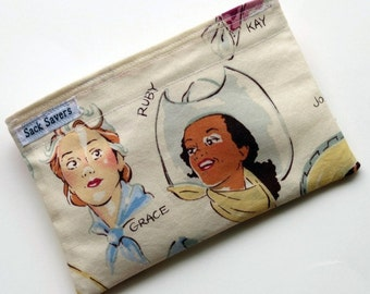 Western Cowgirl Reusable Eco Friendly Snack Bag