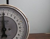 Vintage Metal Kitchen Scale by Hanson - Cream and Black