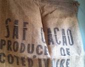 Large Burlap Cocoa Sack - Cote d'Ivoire